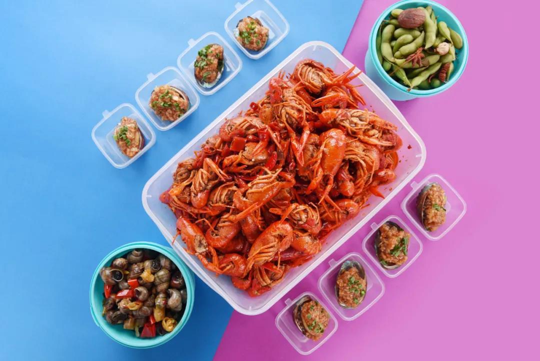配送/自提丨小龙虾控的夏日盛宴!¥115抢价值280元「二十五小食」鲍鱼+去头小龙虾套餐=去头小龙虾3.5-4斤+N多