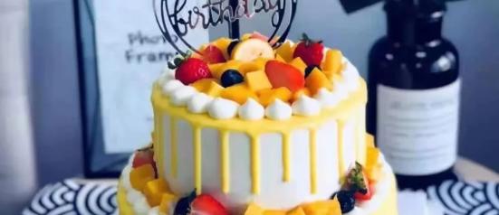【可到店自提/可配送到家·2店通用】七夕甜蜜福利!89.9元抢「妤羽贝尔手工蛋糕」8+6寸水果款蛋糕1个! 芒果/草莓口味
