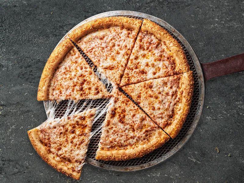 【全国118家门店通用|棒约翰】三折就能吃到披萨套餐!现59.9元抢棒约翰门市价173元2-3人套餐=披萨12选1+2份小食等